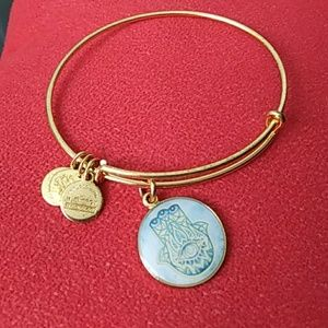 Alex and ani hand of Fatima bracelet